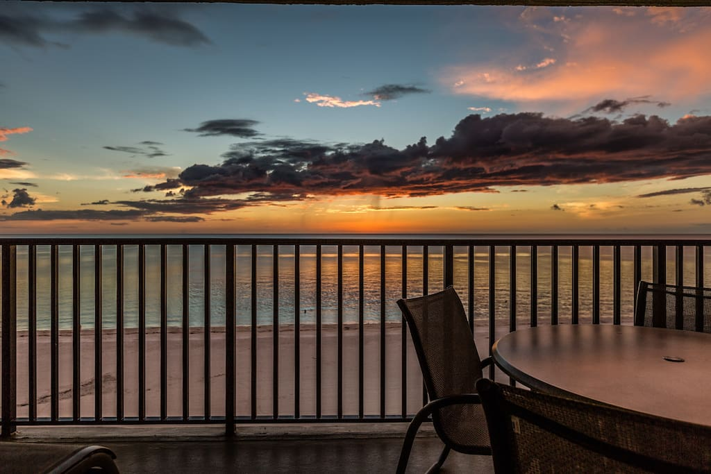 Sunset from your Private Balcony