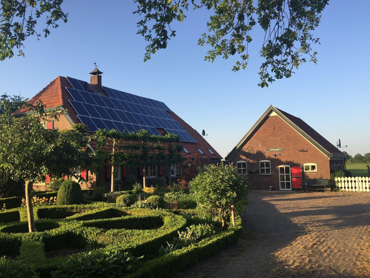 Boerderij met bijgebouw Farmhouse with seperate house Landwirt Ferien Wohnung