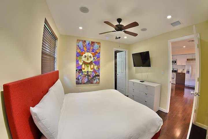 First bedroom in building 3.
