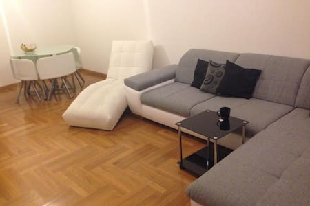 Spacious living room in modern apartment + balcony - Zagreb