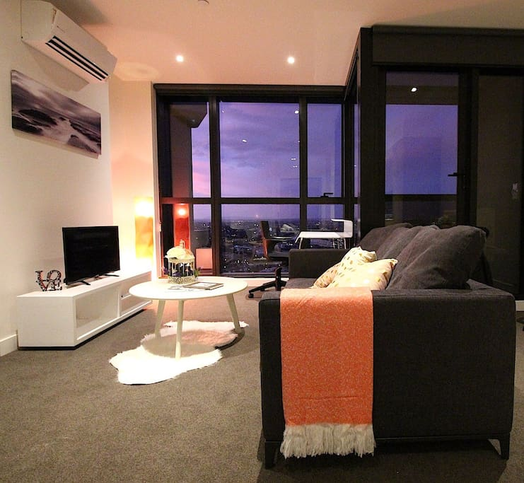 Cosy feel living room with TV