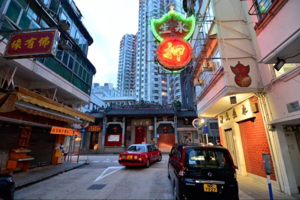 Our home street. A very well kept district in Hong Kong.