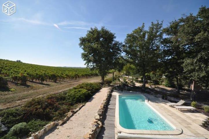 """Gîte """"Las Goutos"""" au milieu de vignes"""