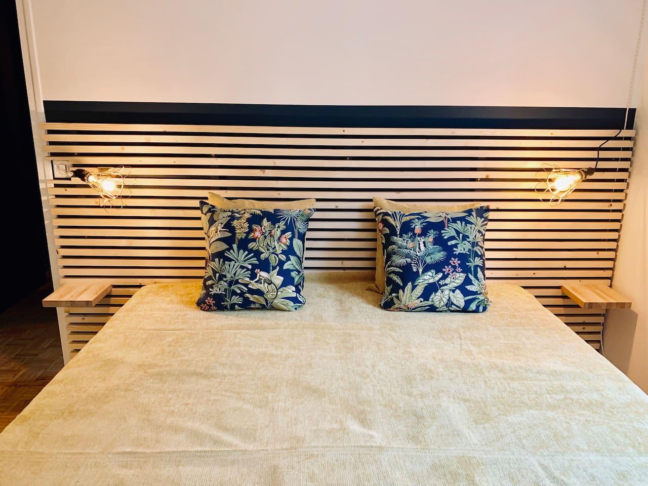 Chambre avec 2 lits 90X200 qui peuvent être séparé