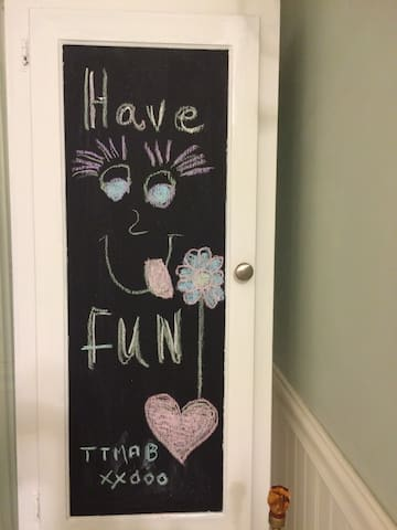 The only motto you need when staying here! Chalk