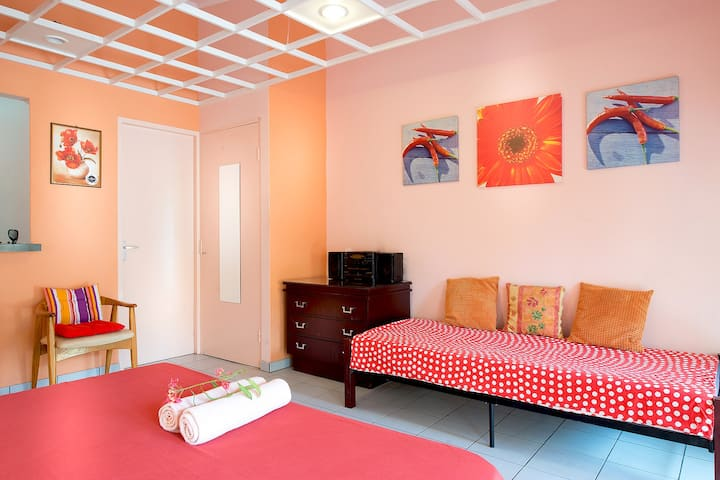 Budget friendly studio in Willemstad. Flamboyan.