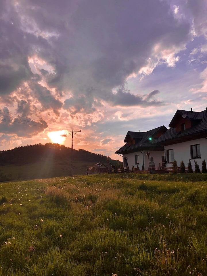 Klimatyczne domki w Pieninach