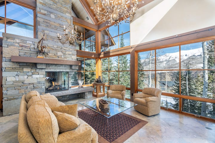 Exceptional Ski-in Ski-out Mountain Village Home with a Thoughtful Layout and Wonderful Views