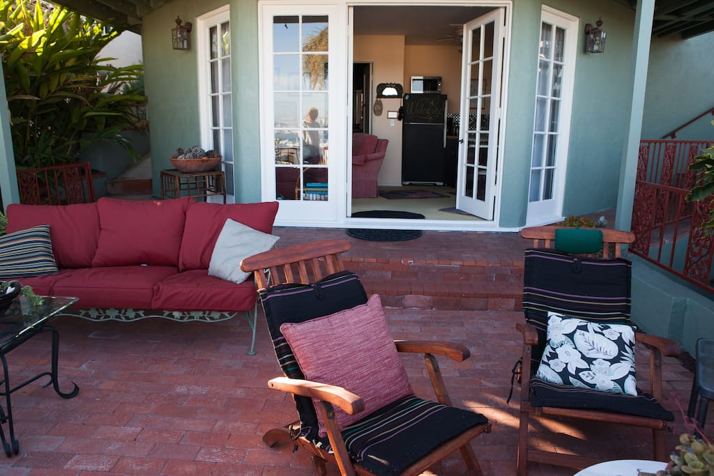 Your private entrance is right off your private deck