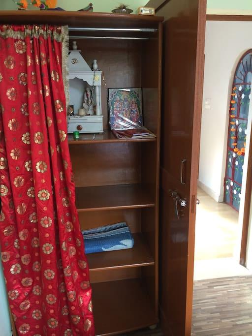 cupboard to keep your belongings