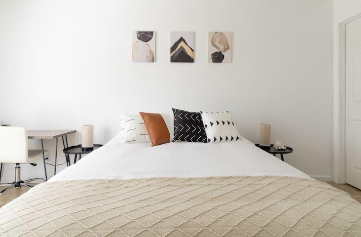Bedroom #1 with a comfy Queen bed!