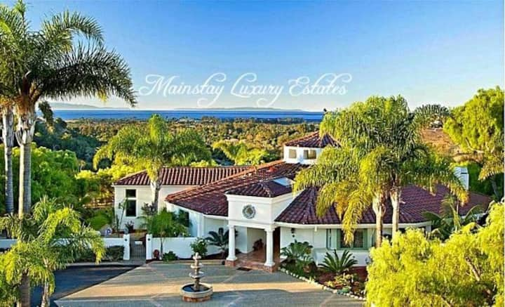 Magnificent Gated Private Santa Barbara Estate, Salt Water Pool, and Spa