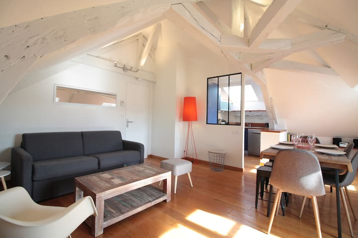 Bright apartment, FULL MARINA AND SAILBOATS VIEW - Vannes - Apartment