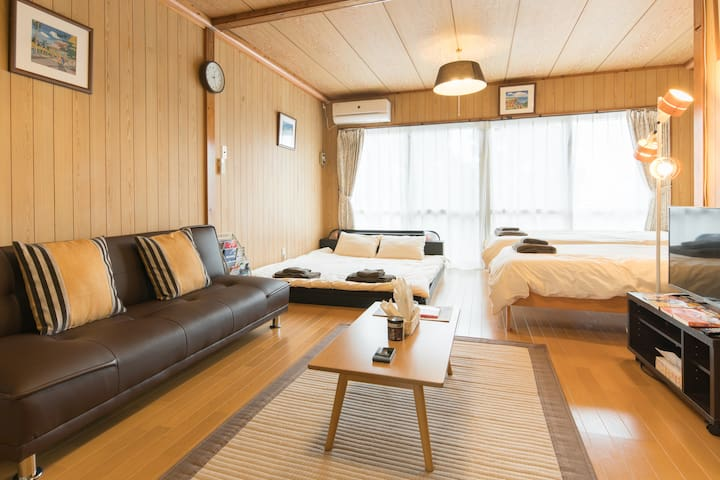 6ppl/1M to Bus sta/Neary churaumi Aqua 30 min! - Nago-shi - Apartemen