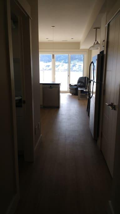 Hallway from bedroom