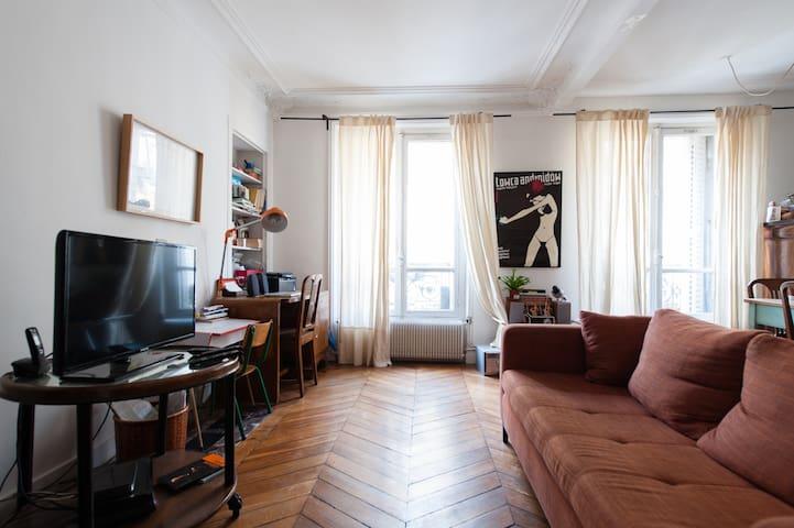 Appartement en face du parc des Buttes de Chaumont