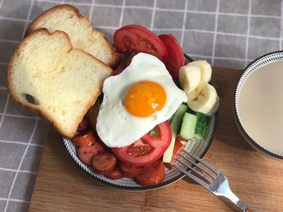 闲来一个人做一顿布满清晨阳光味道的早餐