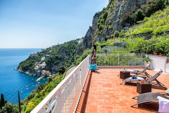 Villa Serena on the Amalfi coast: amazing view