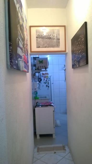 corredor acesso cozinha