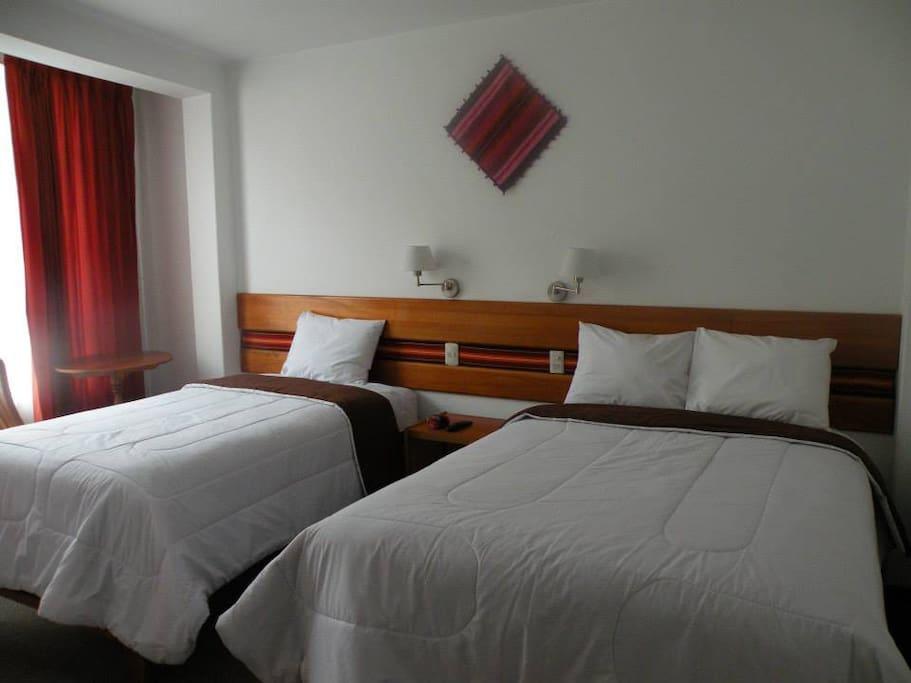 camas twin  cada una de dos plazas grande