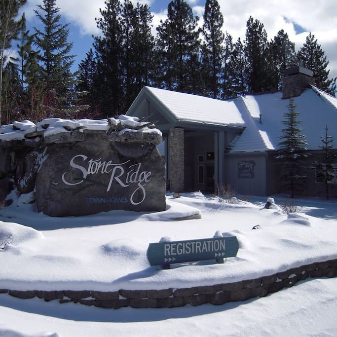 Sunriver in the winter.