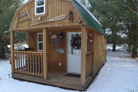 Tiny House/Cabin Close to the Dells Secluded 22 ac - Delton - Mökki