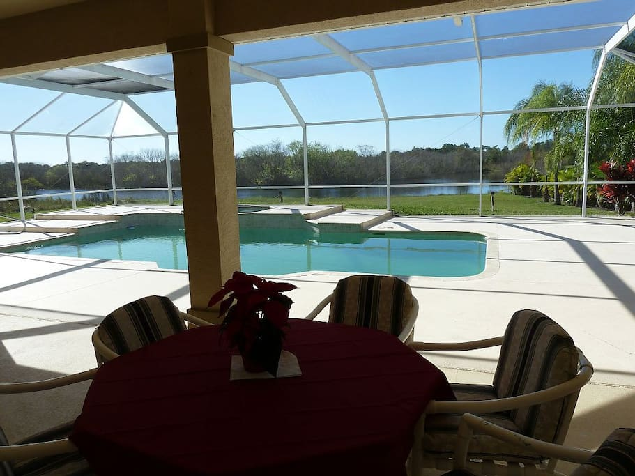 Dine outside, enjoy the pool and soak in breathtaking preserve views!