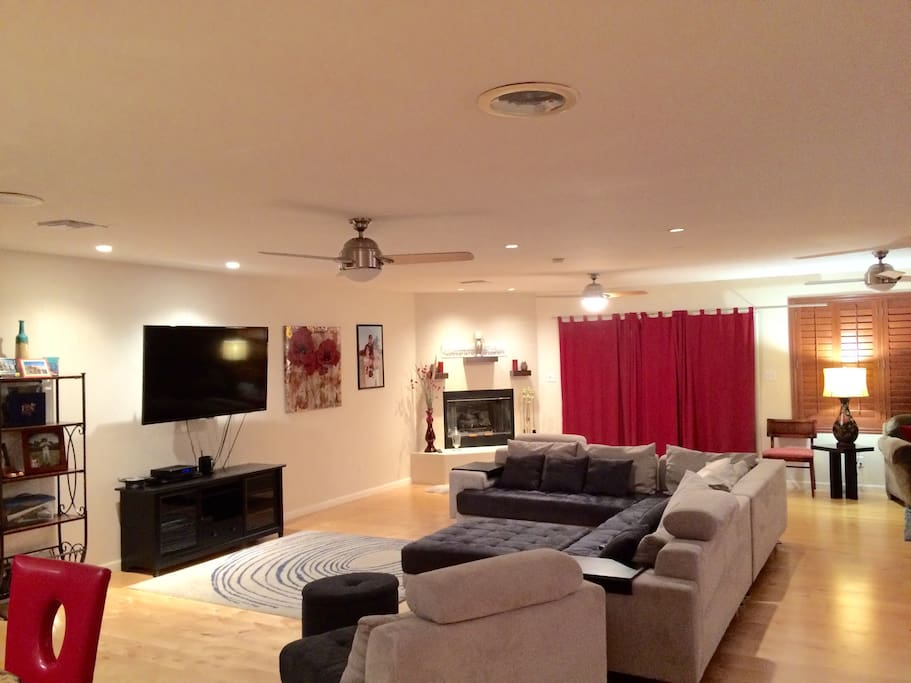 Huge entertainment room