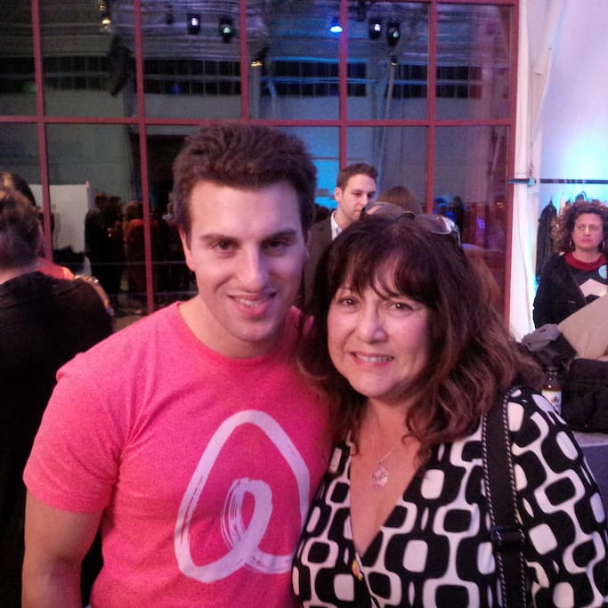Airbnb CEO Brian Chesky and yours truly! First Airbnb Open Conference in San Francisco. ❤️