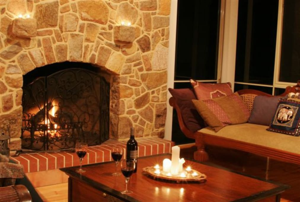 Winter nights around the fire with local red wines