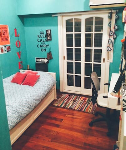 Habitación privada Palermo Soho C/balcón Verde - Buenos Aires - Casa