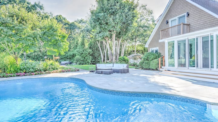New Listing: Private Gated Home Near Town & Beach w/Heated Pool, Fire Pit, Home Theater