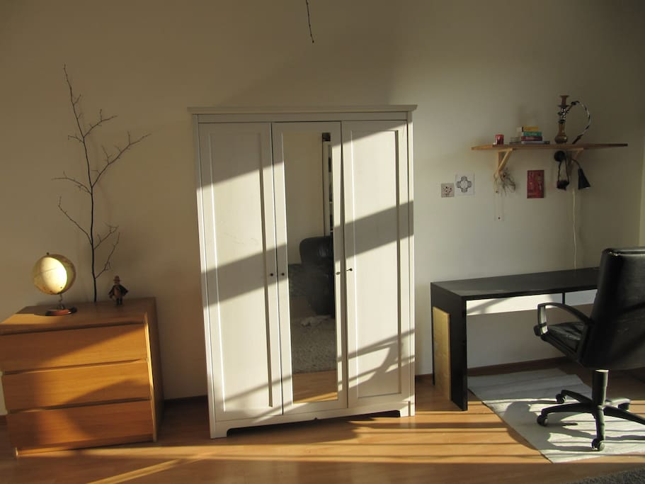 Closet and desk in your room