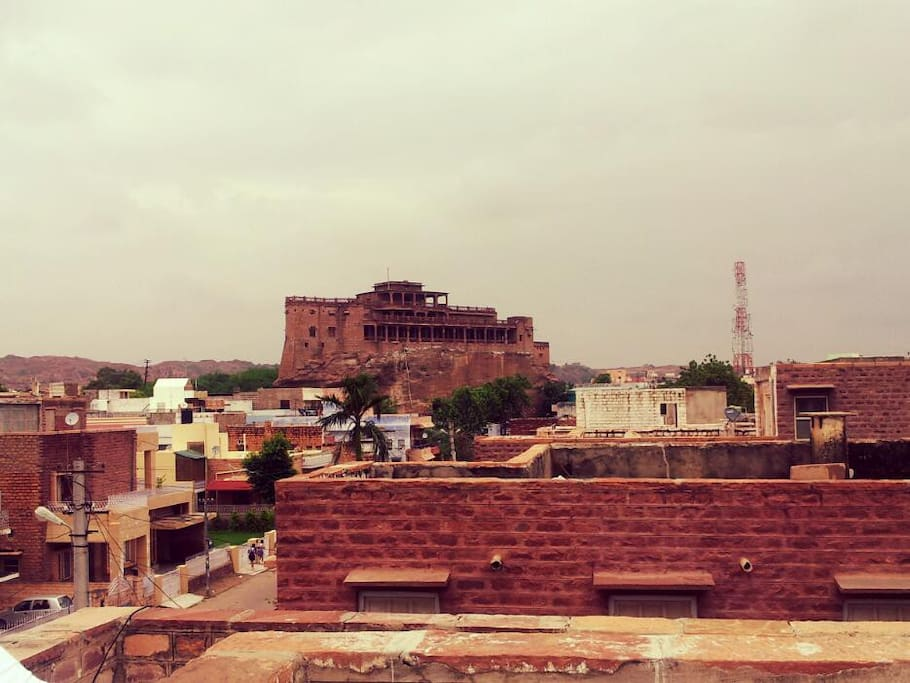 Great view of the historical Ship House from CrashPad Jodhpur.