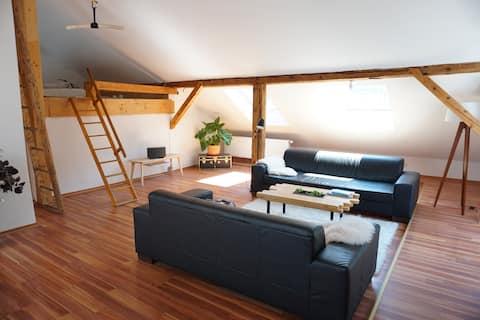 Gemütliche Dachgeschosswohnung mit Loft-Charakter