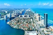Miami Sunny Isles Beach, the condo is right on the ocean and direct access to the beach