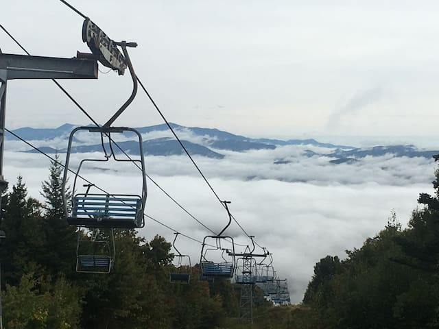 Chair lifts at the resort we're on (Tenney Mountain Resort)