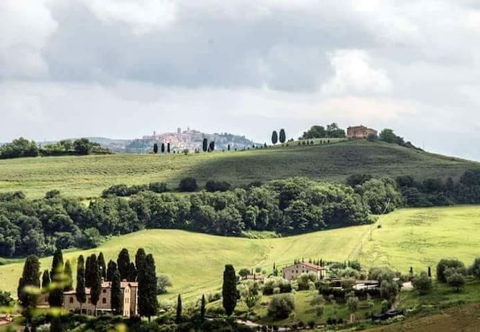 View for Montepulciano from the house