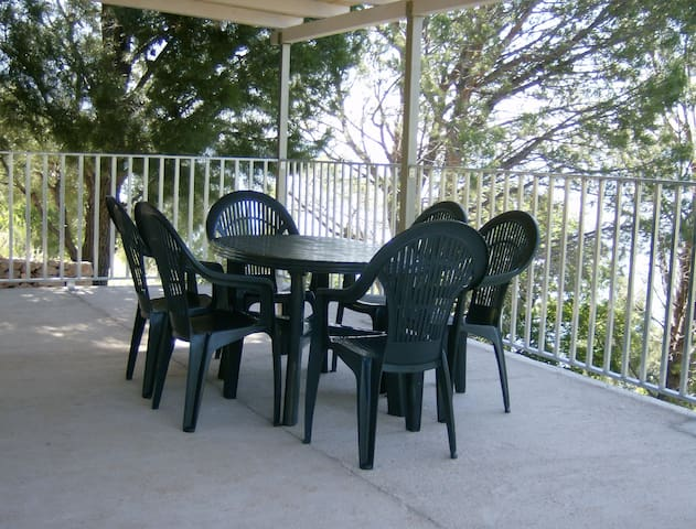 Terrace of mobile home