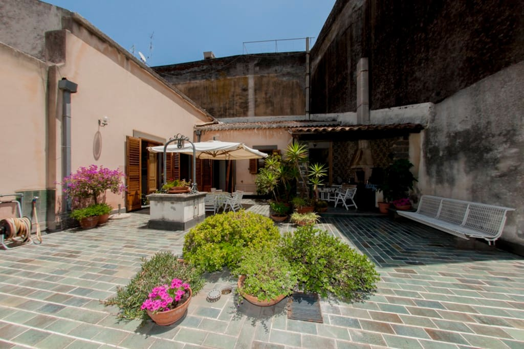 This is the big terrace typical of the real Sicilian houses. Living in these places will bring you back in time.