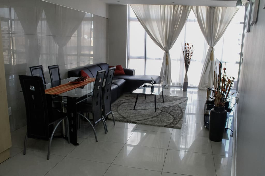 Spacious living area. Full Kitchen, dining area and lounge.