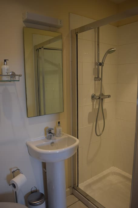 Your en-suite includes a walk-in power shower.