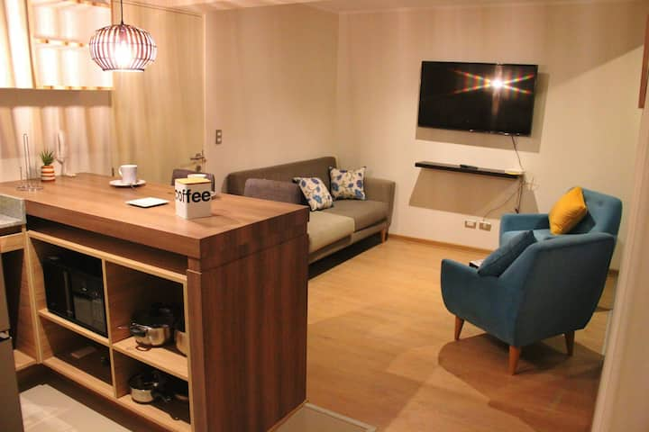 Apartamento moderno cerca al corazón de Miraflores