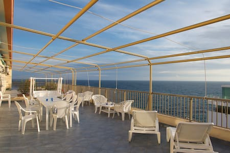 Penthouse roof skydeck overlooking sea Gallipoli