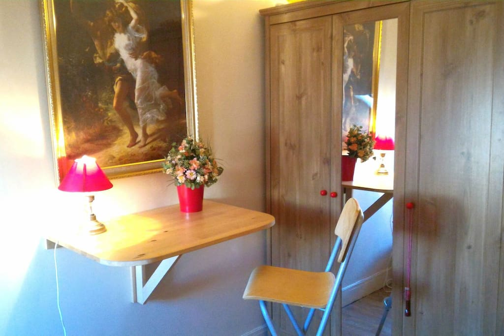 wardrobe, foldable table&chair