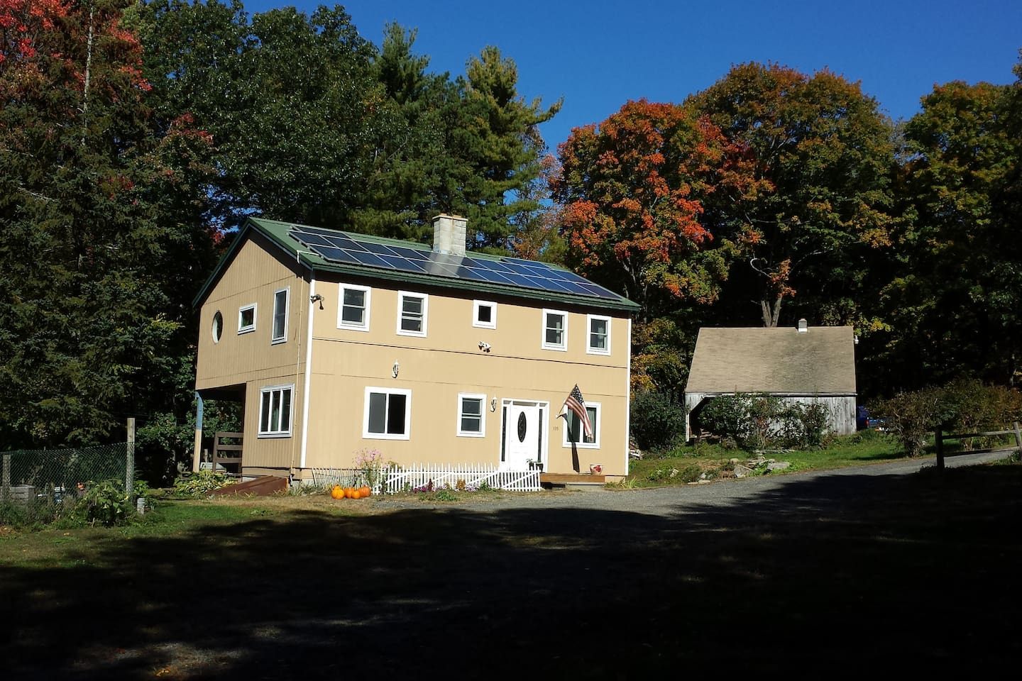 Spacious colonial home in hills of Pelham MA.