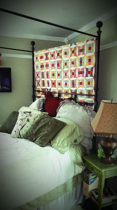 We are constantly updating- we recently added a family heirloom quilt to the decor in your room.