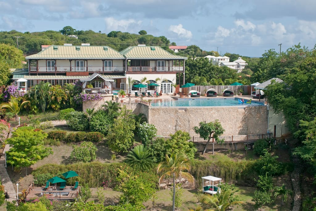 L'Anse aux Epines House & Gardens overlooks Prickly Bay and the seas beyond.