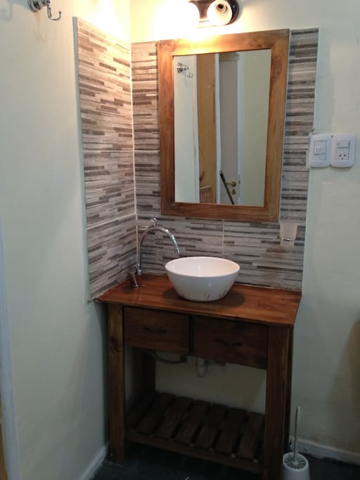 Guest bathroom recently renovated
