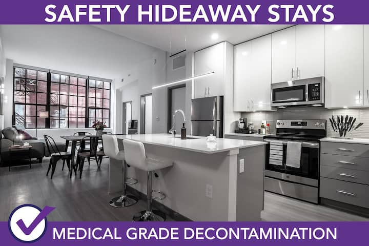 Safety Hideaway - Medical Grade Clean Condo - Heart of Business District # 804
